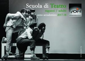 Fronte 2 Cartoline A6 Scuola di teatro 2017 18