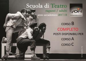 Fronte 2 Cartoline A6 Scuola di teatro 2017 18 (1)