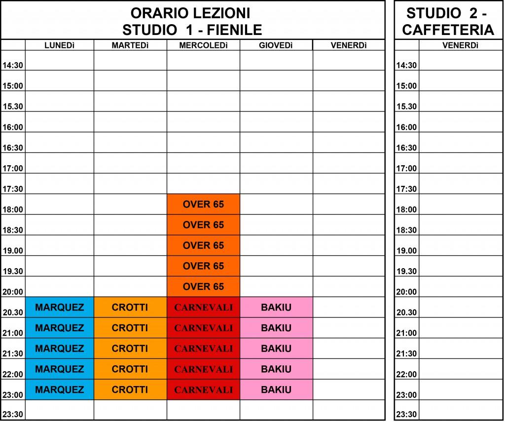 orari lezioni 21-22 adulti